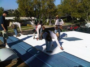 Self-Adhered roofing installers